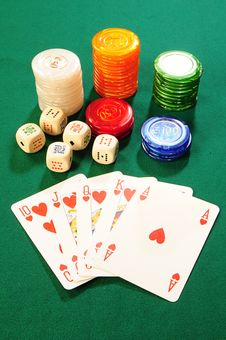 Free Casino Accessories Royalty Free Stock Images - 8488069