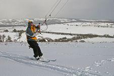 Kite Skiing Stock Photo