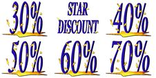 Free Star Discount Royalty Free Stock Image - 8488316