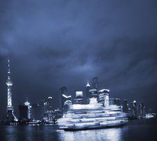 Free Night View Of Shanghai Royalty Free Stock Photos - 8488488