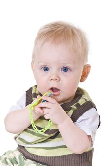 Free Little Boy In A Green Vest Royalty Free Stock Photography - 8488987