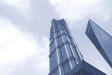 Free Famous Buildings - Jin Mao Tower Shanghai Stock Photo - 8489070