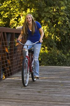 Free Riding A Bike Royalty Free Stock Image - 8489116