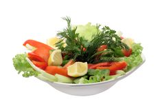 Free Plate With Salad Royalty Free Stock Image - 8489596