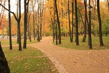 Recreation Park In The Moscow Royalty Free Stock Photos