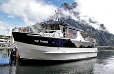Free M V Sinbad. Milford Sound NZ Royalty Free Stock Photography - 84898757