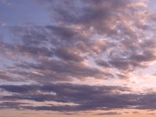 Free Sky. Windy. Sunset. Stock Images - 84899204