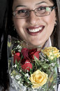 Free Girl With Roses Royalty Free Stock Photo - 8494005