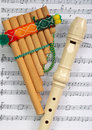 Free The Mexican Pipe And Beige Flute Royalty Free Stock Photos - 8497238