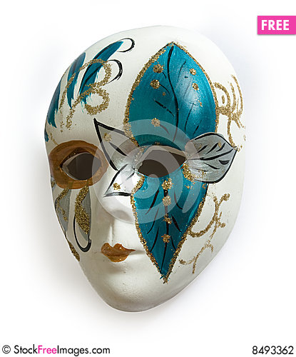 Free Venetian Carnival Mask Stock Photography - 8493362