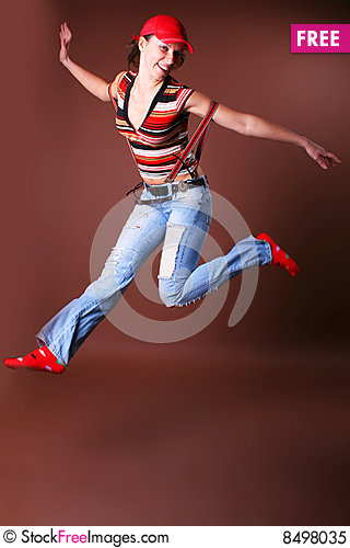 Free The Young Beautiful Girl During Active Leisure Royalty Free Stock Photo - 8498035