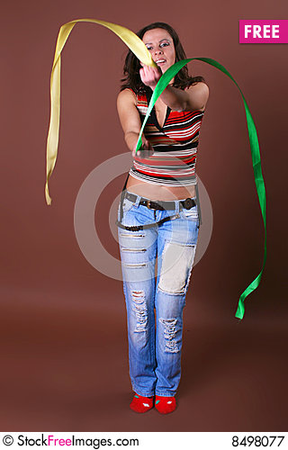 Free The Young Beautiful Girl During Active Leisure Royalty Free Stock Photography - 8498077