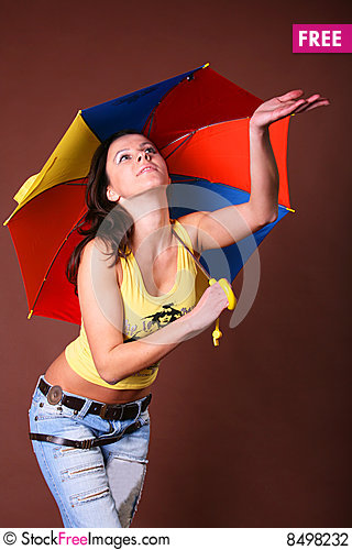 Free The Young Beautiful Girl During Active Leisure Stock Photography - 8498232