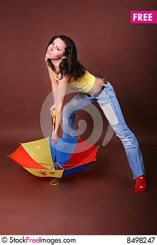 Free The Young Beautiful Girl During Active Leisure Royalty Free Stock Photography - 8498247