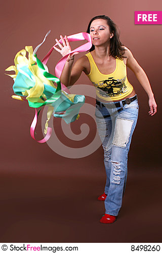 Free The Young Beautiful Girl During Active Leisure Stock Photo - 8498260