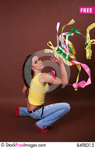 Free The Young Beautiful Girl During Active Leisure Royalty Free Stock Photo - 8498315