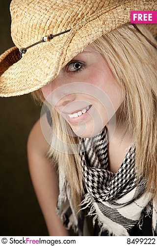 Free Close Up Of Pretty Blonde Woman Stock Photography - 8499222