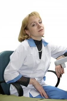 Beautiful Female Doctor Stock Photo