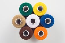Free Sewing Spools In Hexagon Shape Royalty Free Stock Photo - 8490675