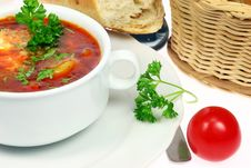 Free Bowl Of Borscht. Royalty Free Stock Photography - 8491277