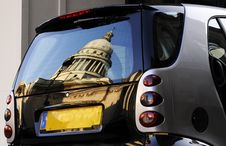 Car With Building Reflection Stock Photography