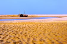 Free Fishing Boat And Sand Beach Stock Photos - 8491753