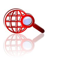 Free Search Icon With Reflection Stock Images - 8492174