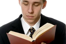 Free Man With The Book Royalty Free Stock Image - 8492296