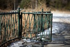 Free A Green Fencing In Tsinghua University After Snow. Stock Image - 8492351