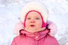 Free Pretty Little Girl In Winter Outerwear. Royalty Free Stock Images - 8492689