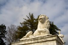 Free Marble Lion Royalty Free Stock Photography - 8492747