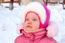Free Pretty Little Girl In Winter Outerwear. Stock Images - 8492764