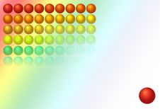 Free Background With Balls, Gradient Royalty Free Stock Photo - 8493075