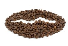 A Coffee Bean Laid Out With Coffee Beans Stock Photos