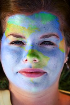 Free Face Paint - World Royalty Free Stock Photo - 8494435