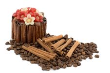 Free Candle, Coffee, Cinnamon Royalty Free Stock Photos - 8494468
