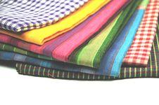 Free Coloured Fabrics Stock Photography - 8494652