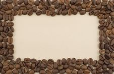 Free Coffee Bean Frame Royalty Free Stock Images - 8495089