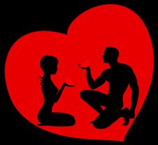 Free Silhouettes Of Lovers Stock Images - 8495254