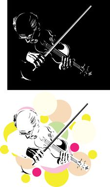 Free Abstract Violinist Royalty Free Stock Photography - 8495597