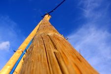 High Wooden Pole Stock Images