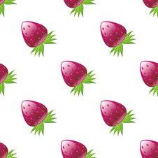 Glossy Strawberry Pattern Stock Photography