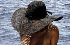 Free Topless Girl Wearing Hat Stock Image - 8496561