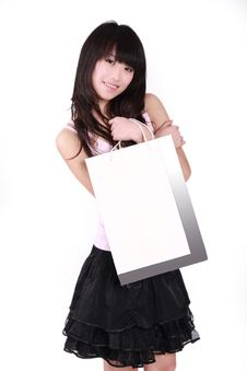 Free Asian Shopping Girl Stock Images - 8496914