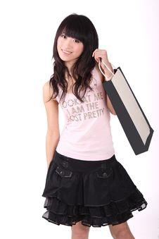 Free Asian Shopping Girl Stock Image - 8496991