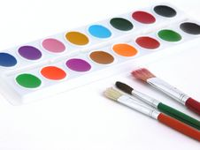 Free Paints And Brushes Stock Photography - 8497592