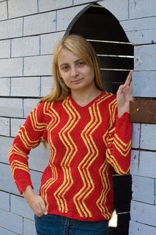 Free Girl In Red Pullover Royalty Free Stock Photography - 8497697