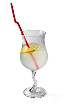 Free Cocktail Decorated With Lemon And Tubule Stock Images - 8498144