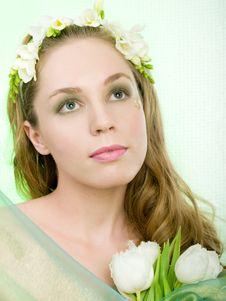Free Spring Girl Stock Image - 8498441