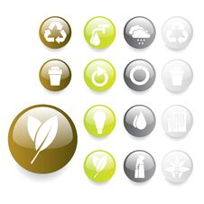 Free Environmental Buttons Royalty Free Stock Image - 8498576